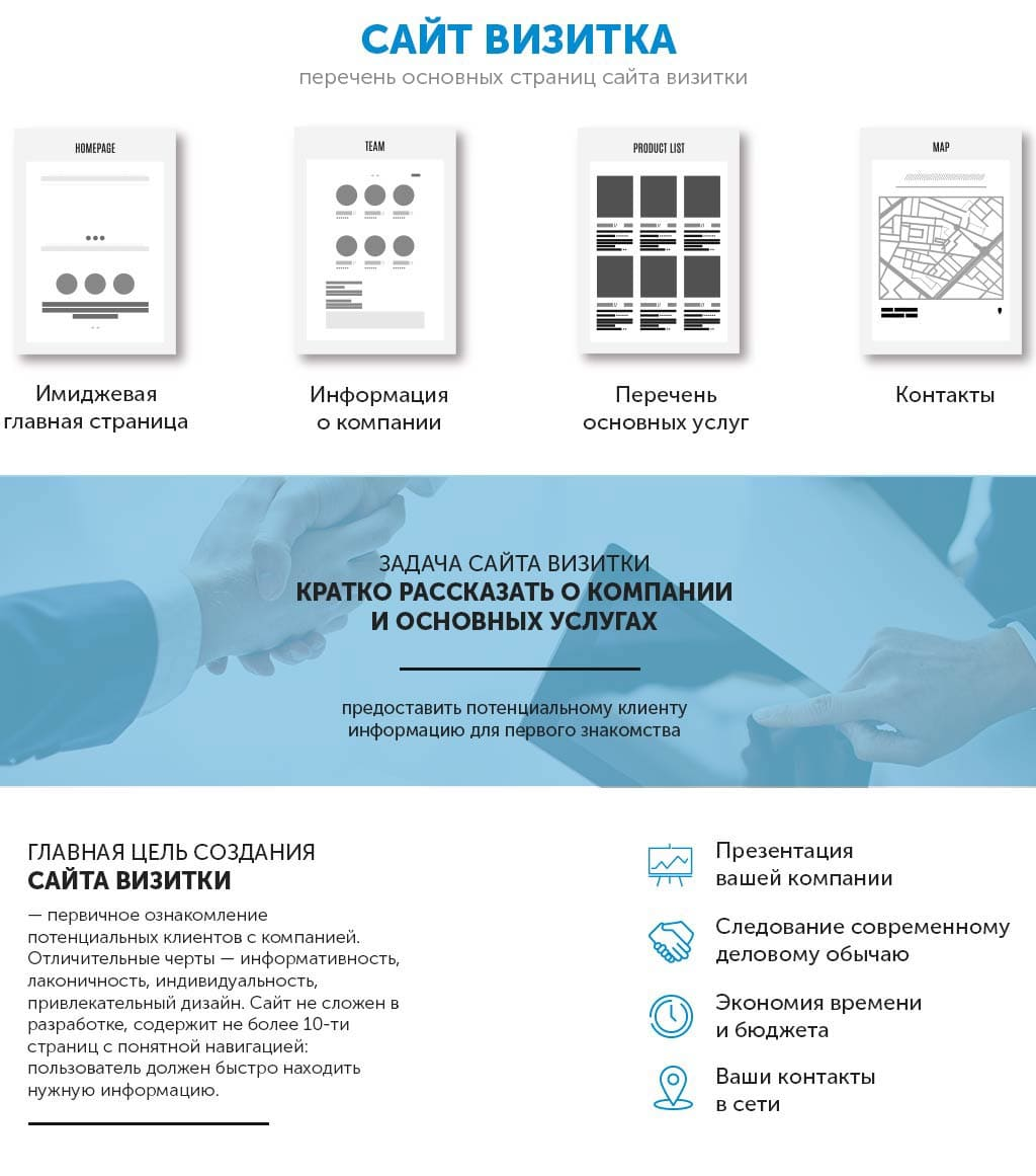 Создание сайта визитки. Заказать сайт визитку. Московская веб студия дизайна