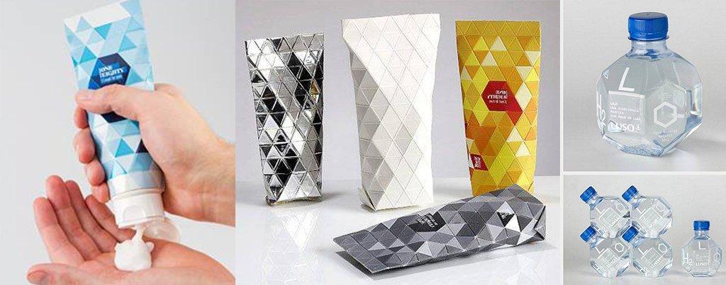 Полигональный дизайн упаковки