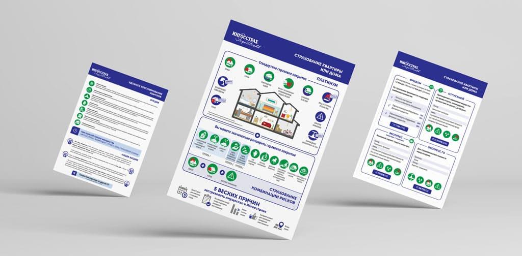 Дизайн рекламных материалов для страховой компании