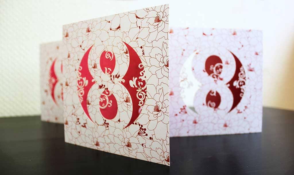 Открытки 8 марта дизайнерские открытки