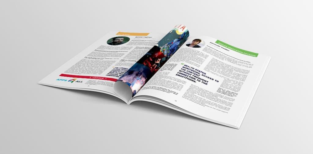 Дизайн бизнес журнала для международного форума RASIA. Пример
