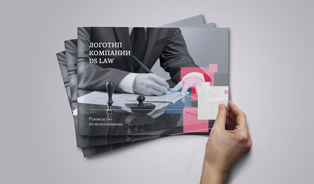 Ребрендинг логотипа DS Law. Обложка Гайдлайна