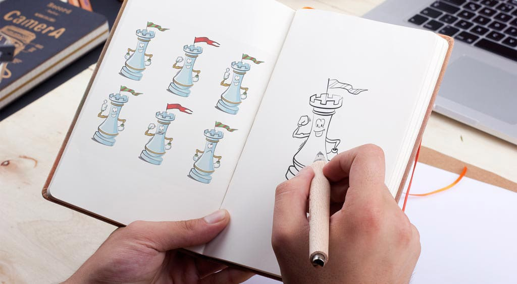 создание иллюстраций для шахматного учебника
