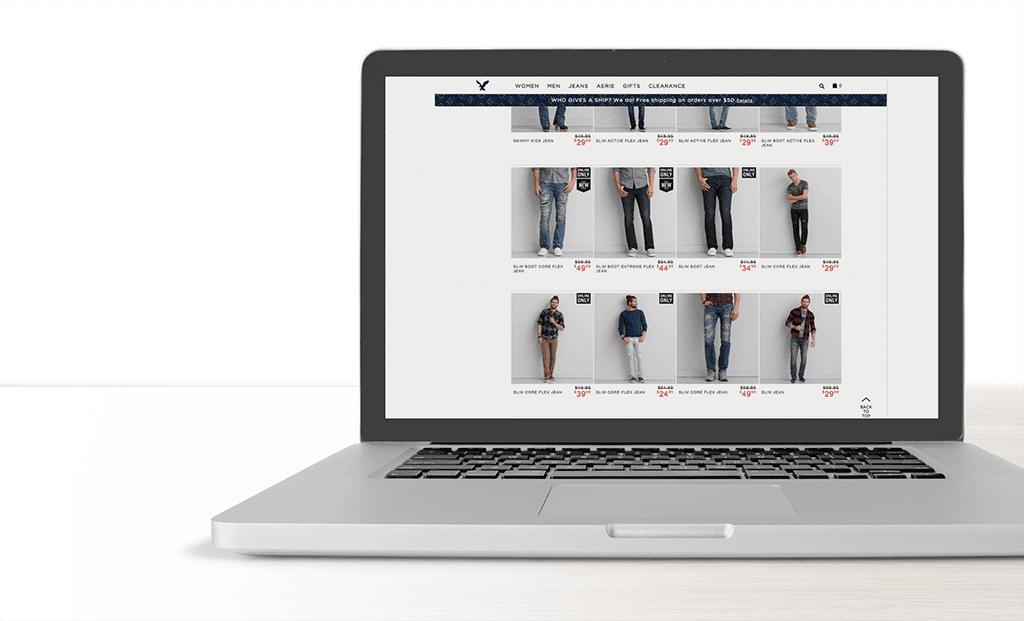 создание web дизайна интернет магазина пример