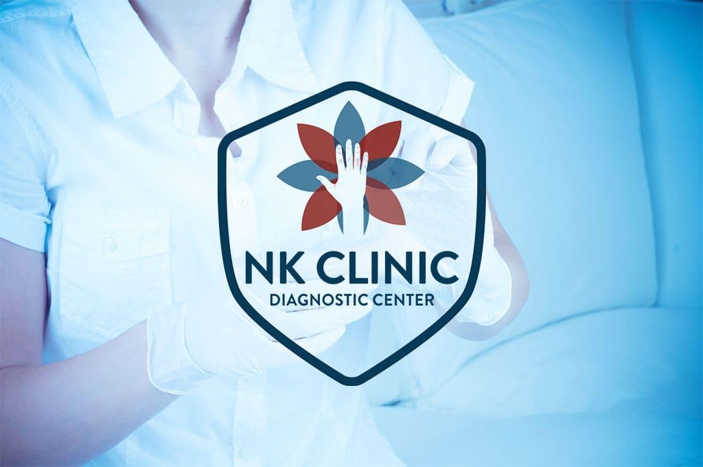 Дизайн логотипа для диагностического центра NK Сlinic