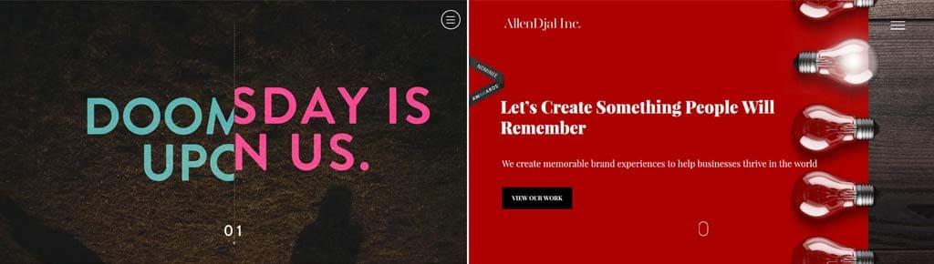 Редизайн и обновление сайта или тенденции в веб-дизайне 2017 Паралакс