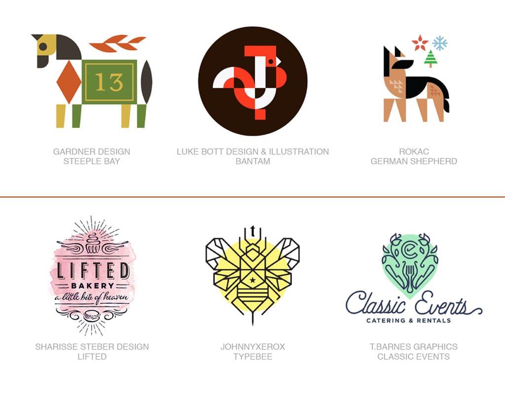 Актуальные тенденции. Тренды в дизайне логотипов 2017 года. Пример работ