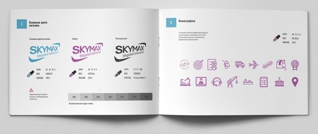 Разработка дизайна фирменного стиля Skymax