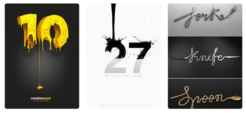 тренды дизайна 2018 Типографика