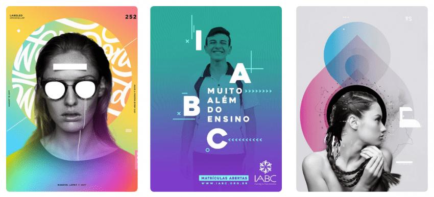 тренды в дизайне 2018 Градиенты