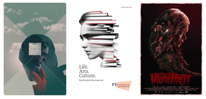 Тренды графического дизайна 2018 Двойная экспозиция