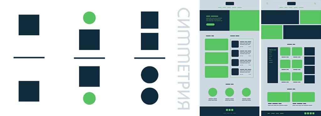 Создание веб-дизайна. Принцип гештальта. Симметрия