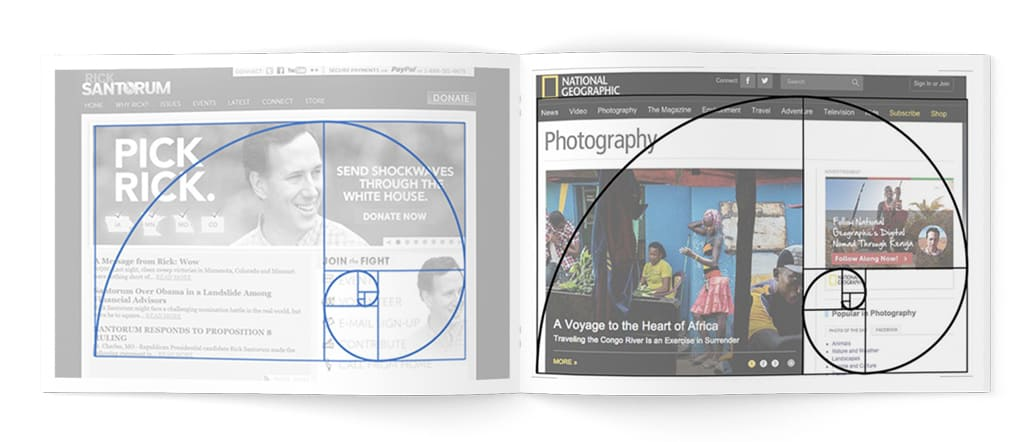 Дизайн сайтов золотое сечение фото