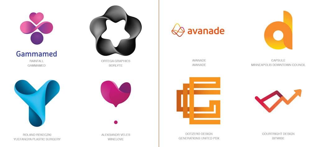Актуальные тенденции. Тренды в дизайне логотипов 2017 года. Изображение