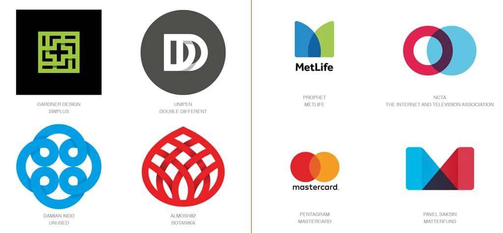 Актуальные тенденции. Тренды в дизайне логотипов 2017 года. Картинка