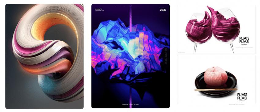 тренды дизайна 2018 Яркие цвета и объем