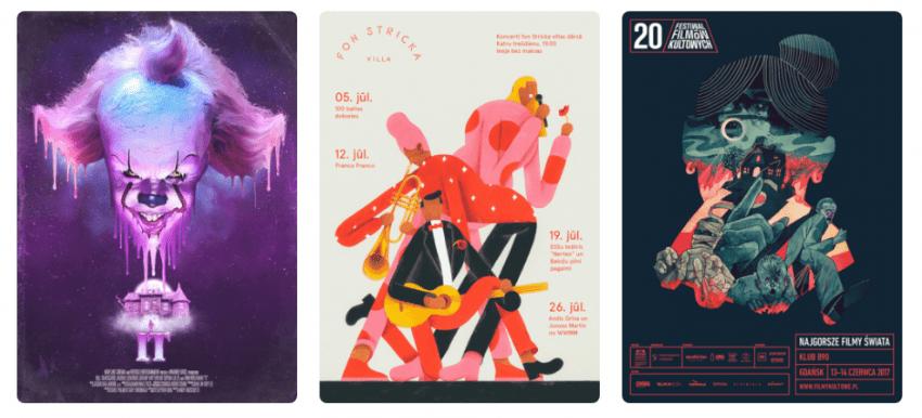 Топ 18 трендов в графическом дизайне 2018-ого года Иллюстрации