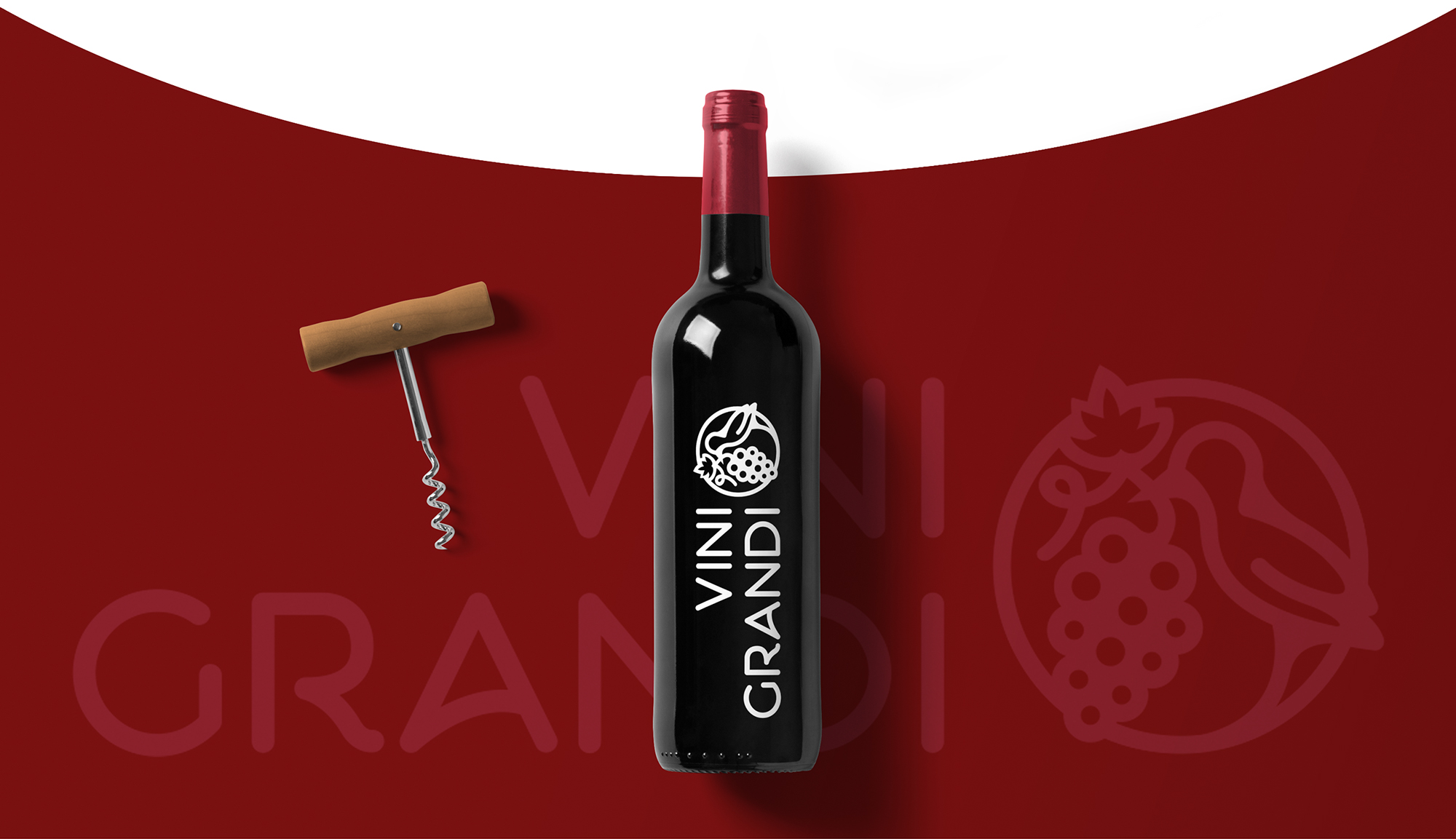 разработка дизайна фирменного стиля и логотипа для винного бутика