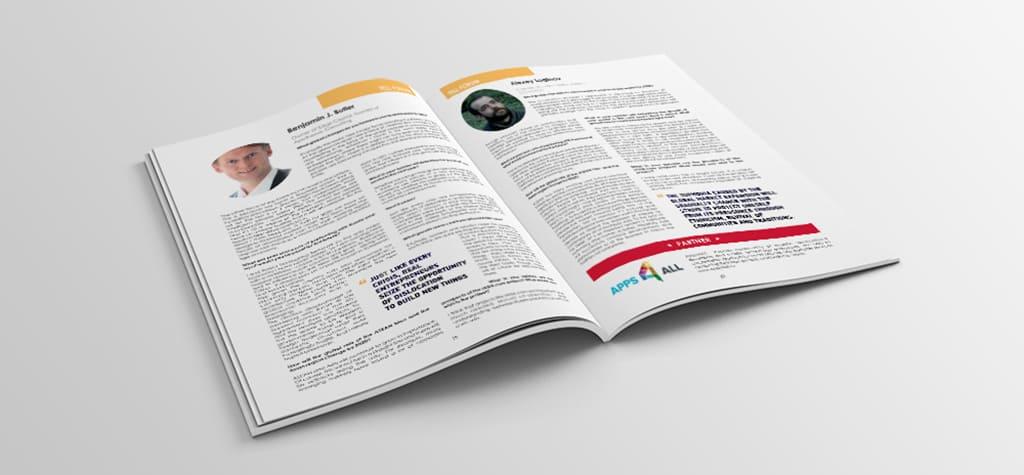Дизайн журнала для международного форума разворот