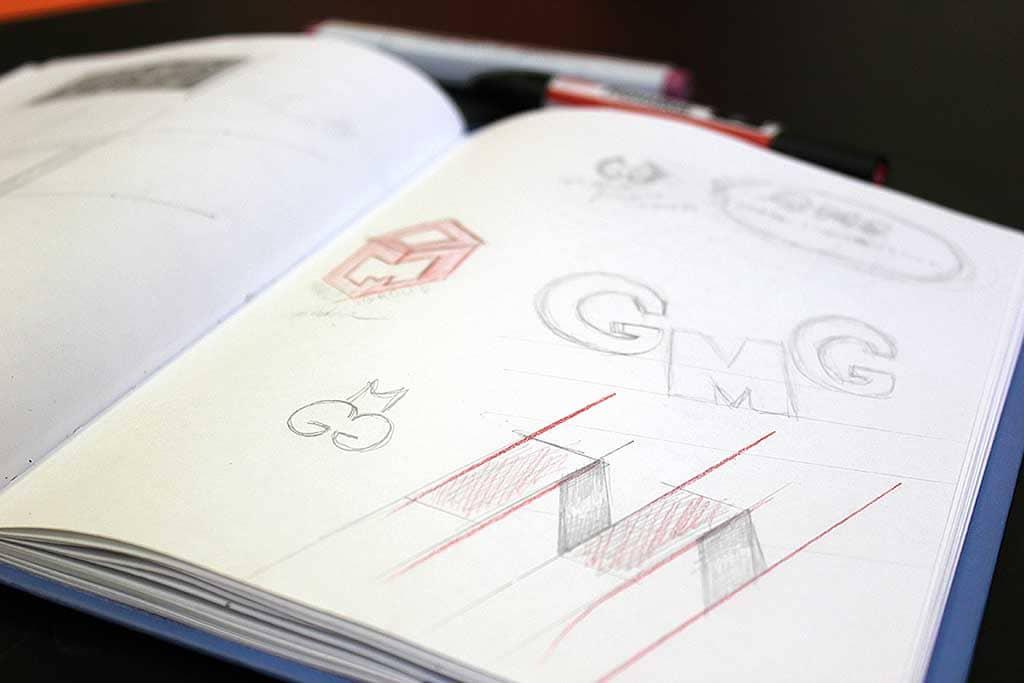 Фирменный стиль и логотип для рекламного агентства - эскизы