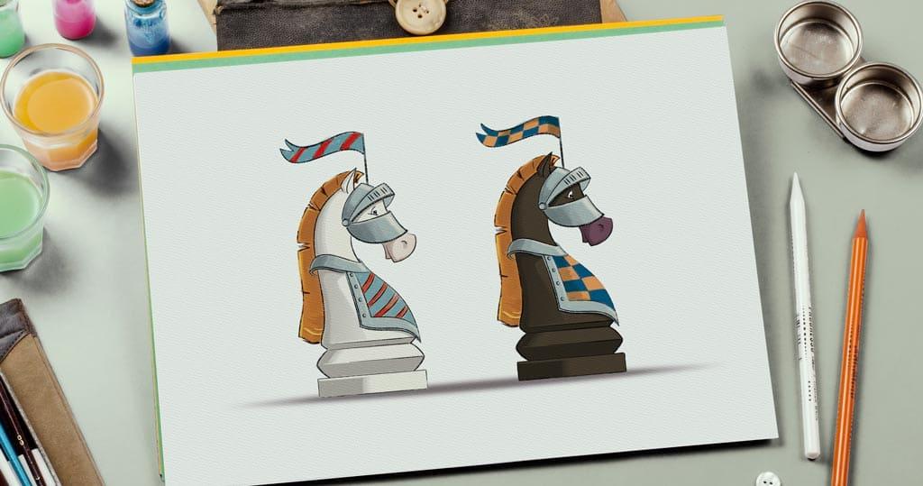 пример иллюстрации к книгам по шахматам