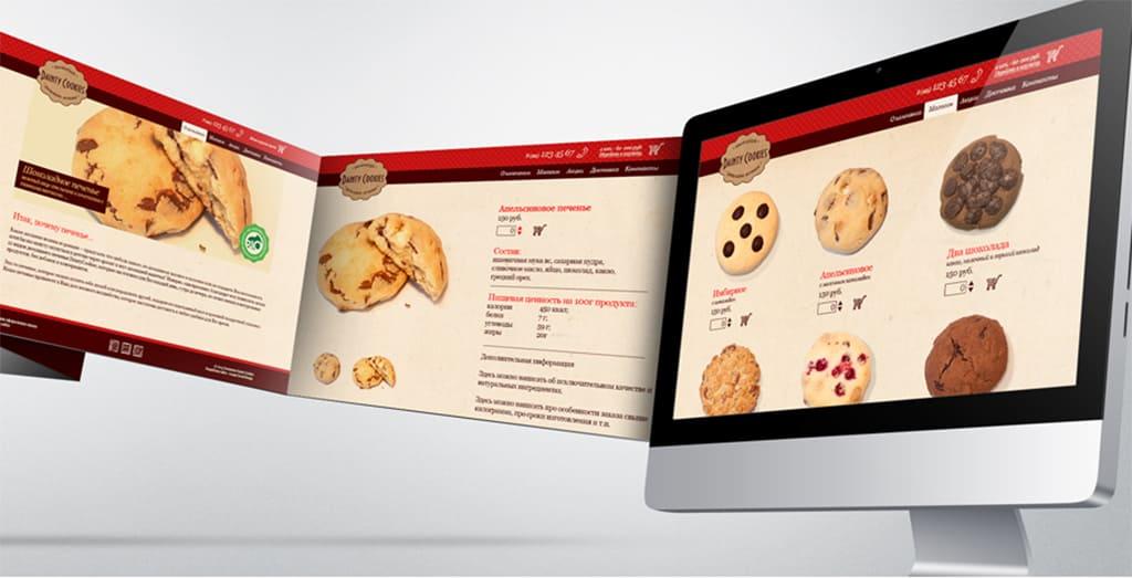 Создание и продвижение бренда Dainty Cookies - веб сайт