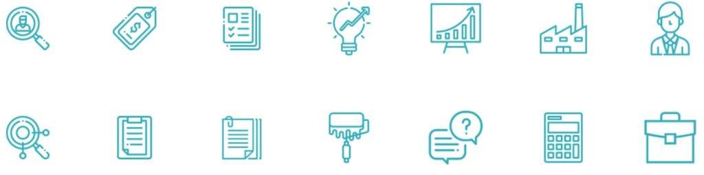 создание уникальных иконок в фирменном стиле компании