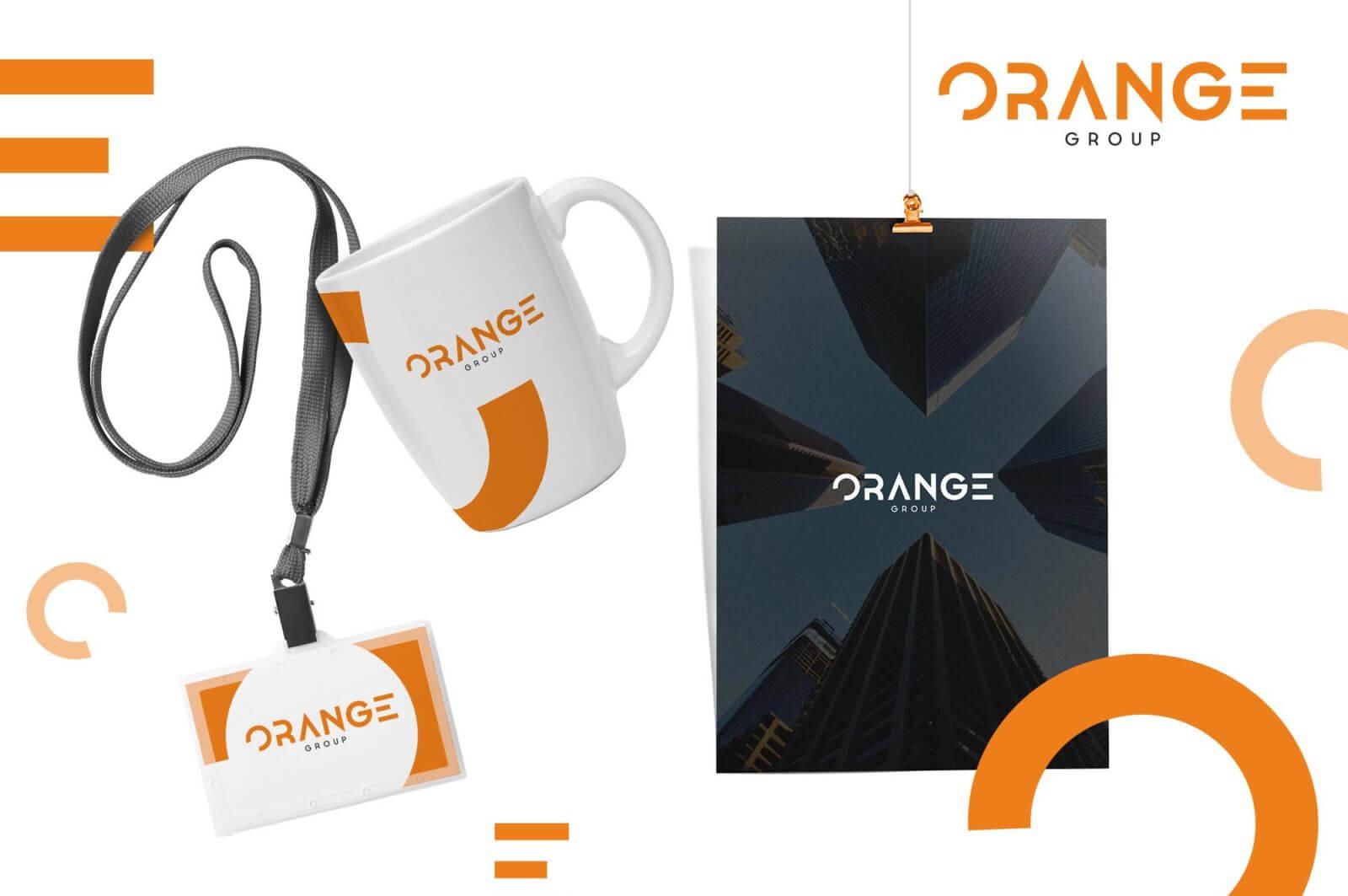 Брендинг группы компаний Orange фирменный стиль
