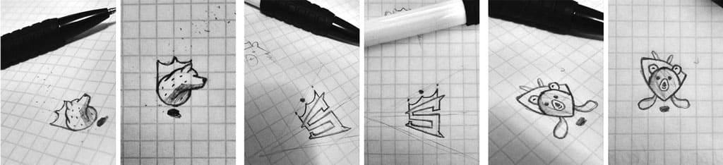 эскизы логотипа бросковой зоны. Логотип под заказ
