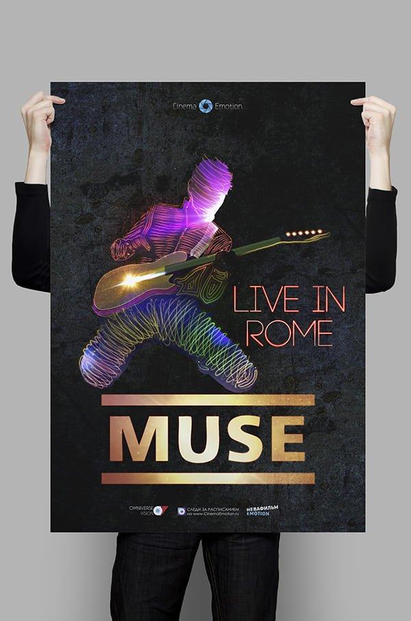 Дизайн постера Muse