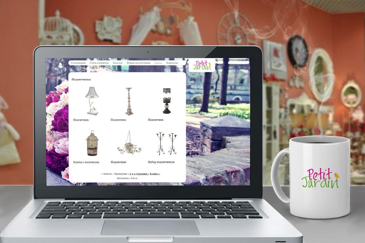 Дизайн интернет магазина Petit Jardin