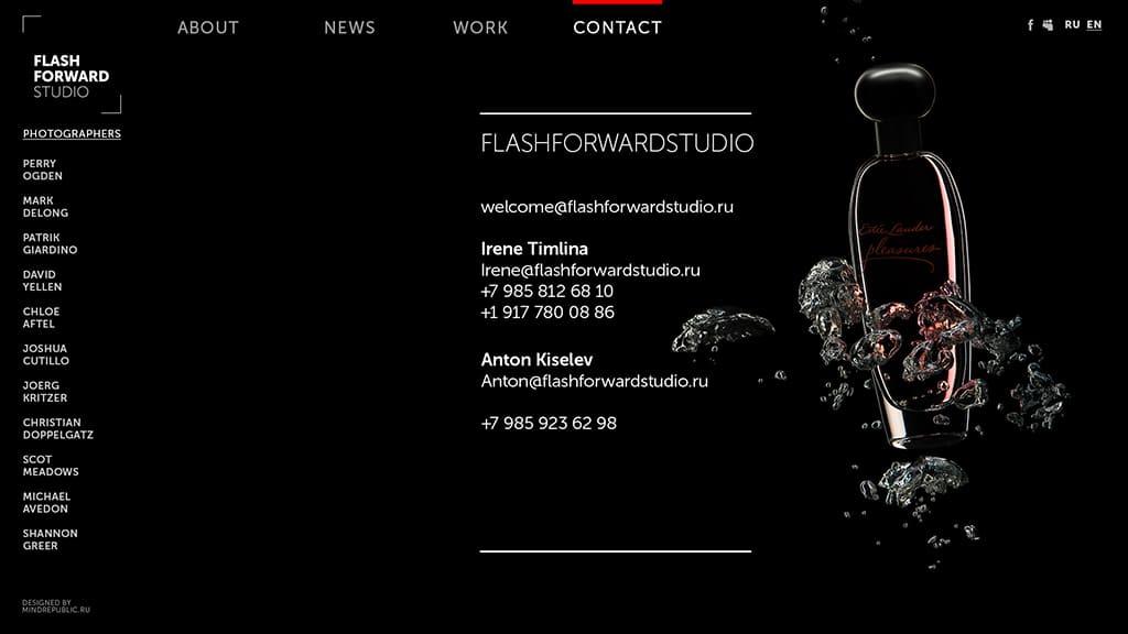 создание дизайна сайта для фото-агентства внутренняя страница 2