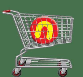 логотип для продуктового магазина Полушка
