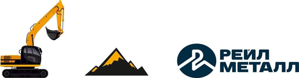 Брендинг рейл металл - символы в логотипе