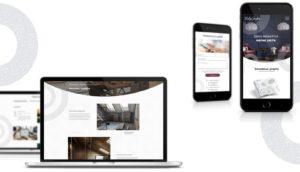 Презентация работы в портфолио - страницы сайта дизайнера интерьеров