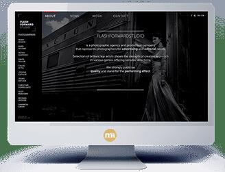 создание дизайна сайта для фото-агентства