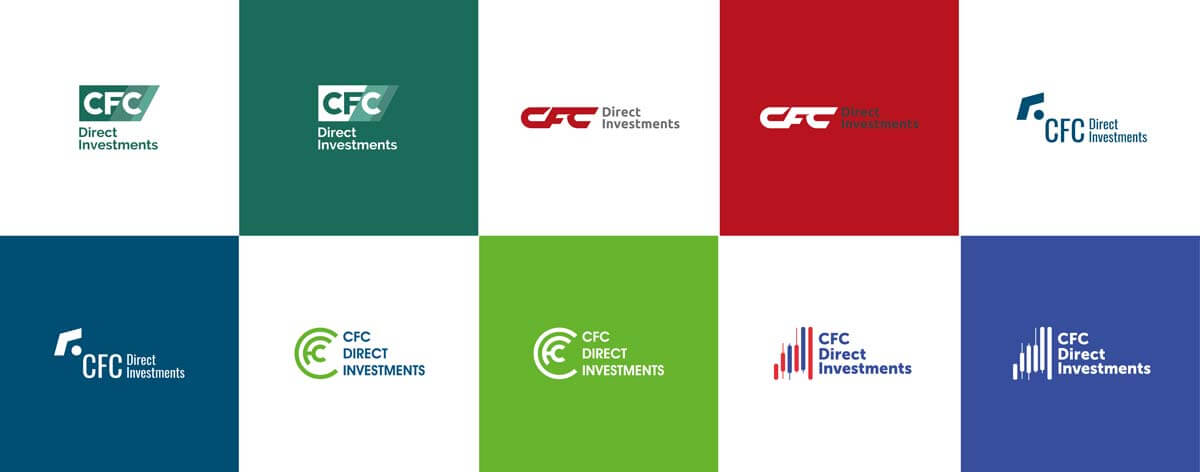 варианты логотипа для брендинга инвестиционной компании