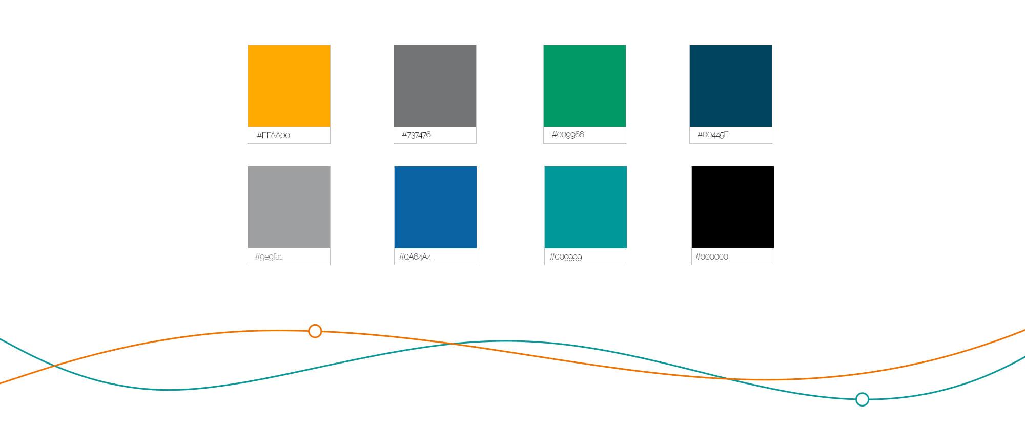 Дизайн и верстка b2b портала - цветовая гамма сайта
