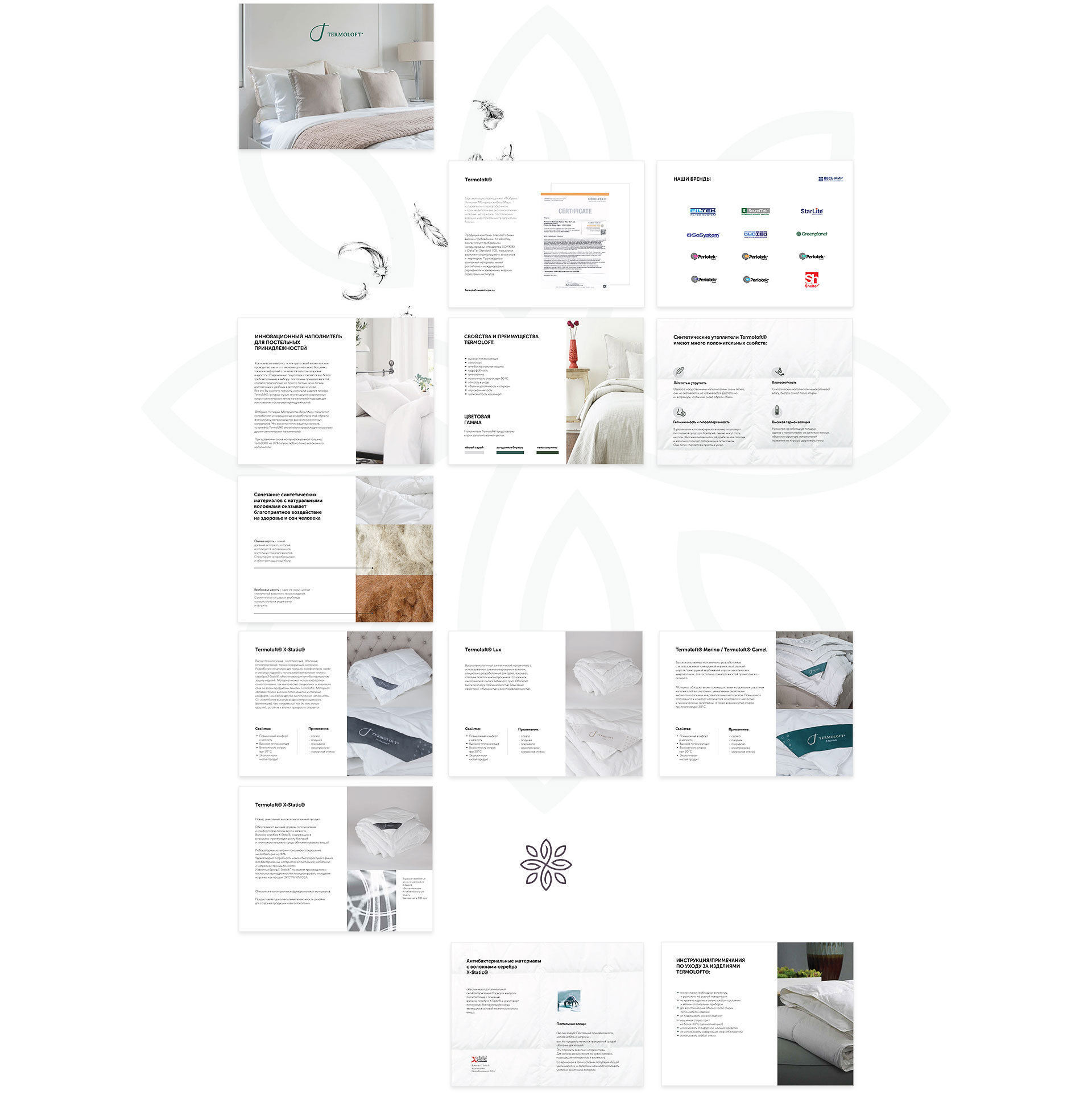 Современный дизайн презентации ppt для компании Термолофт
