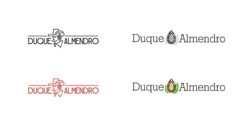 Варианты логотипа для компании Duque Almendro