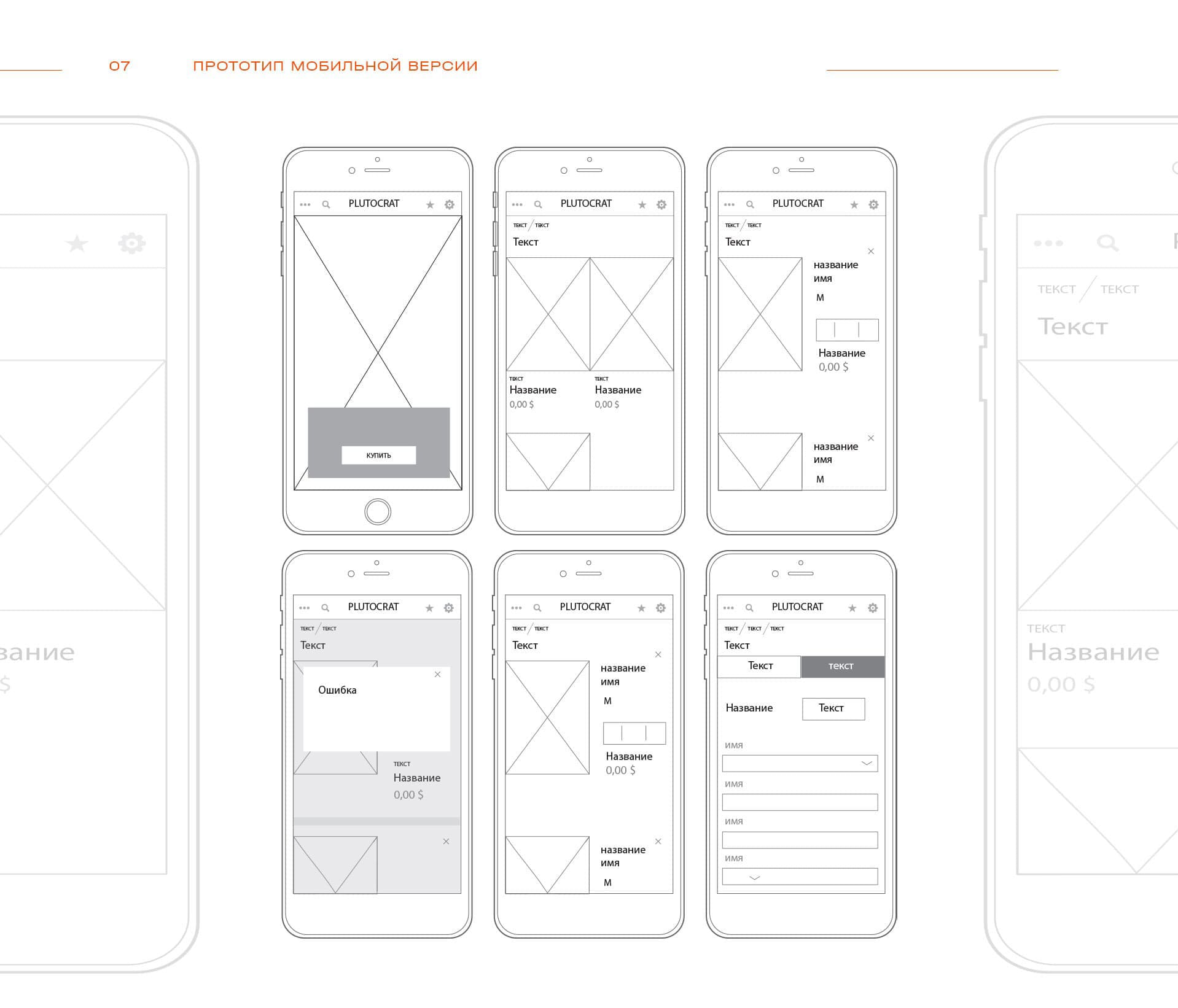 прототип дизайна сайта интернет магазина фешн одежды
