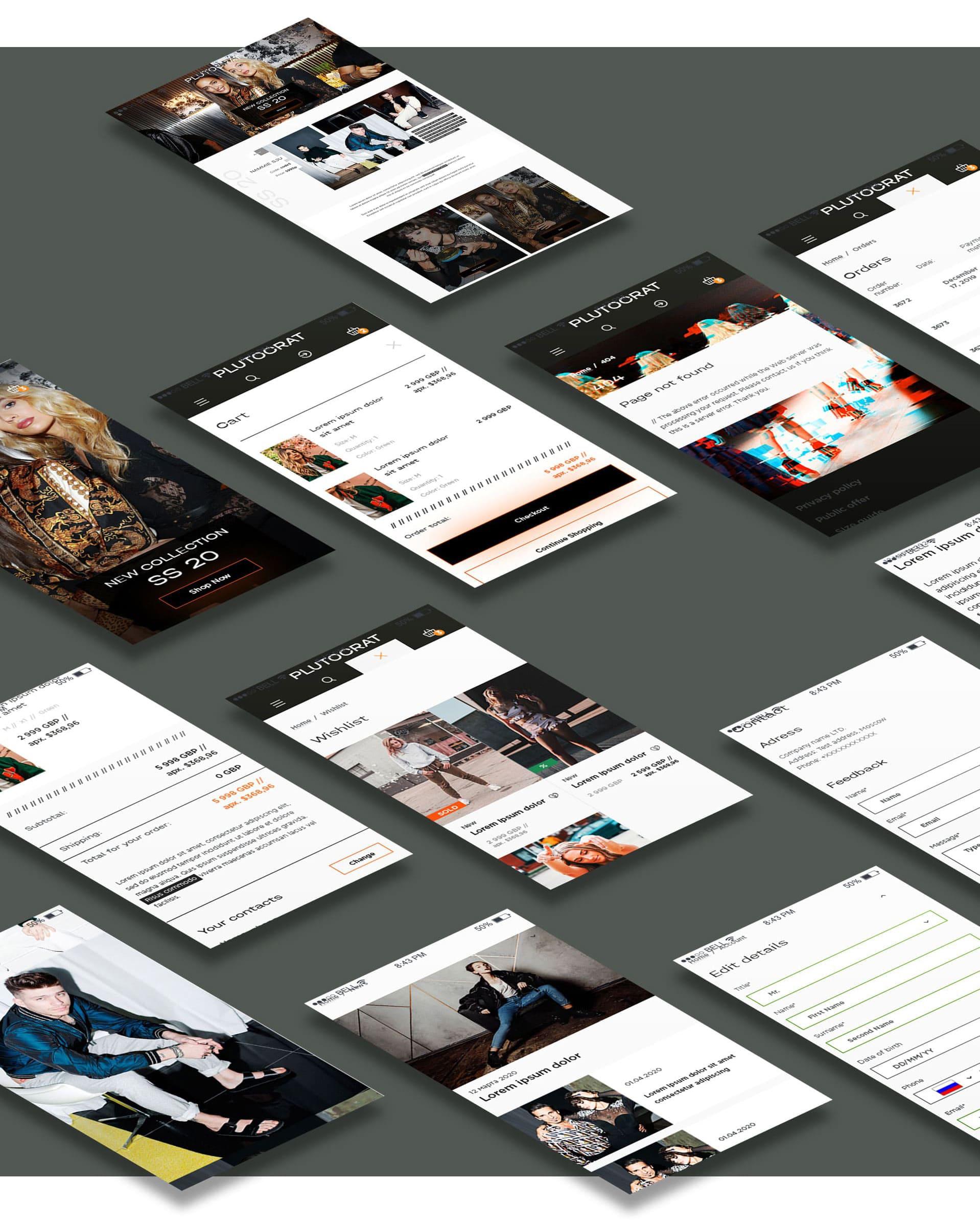 дизайн мобильной версии сайта интернет магазина