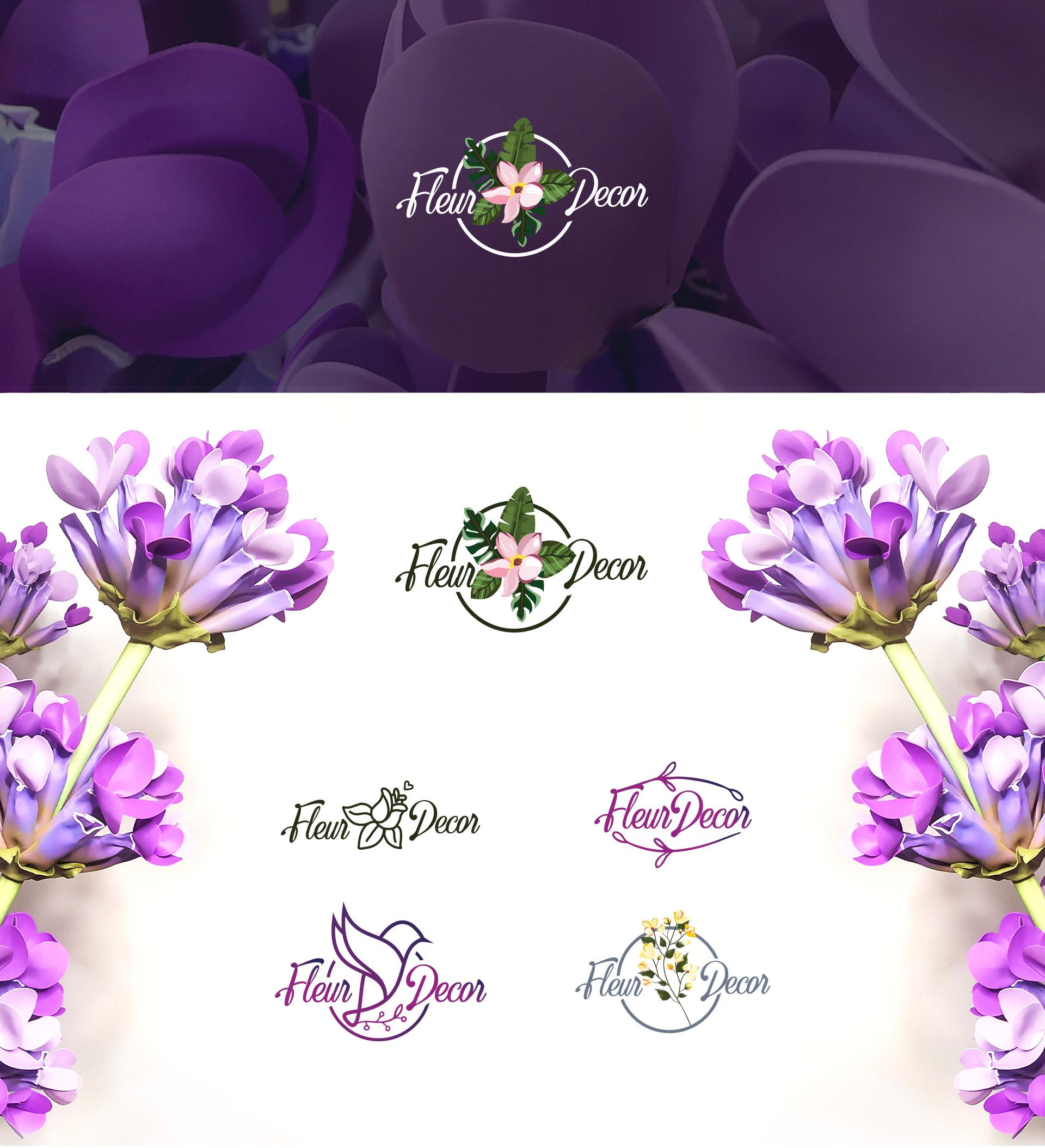 Разработка бренд стиля для студии декора - нейминг и логотип
