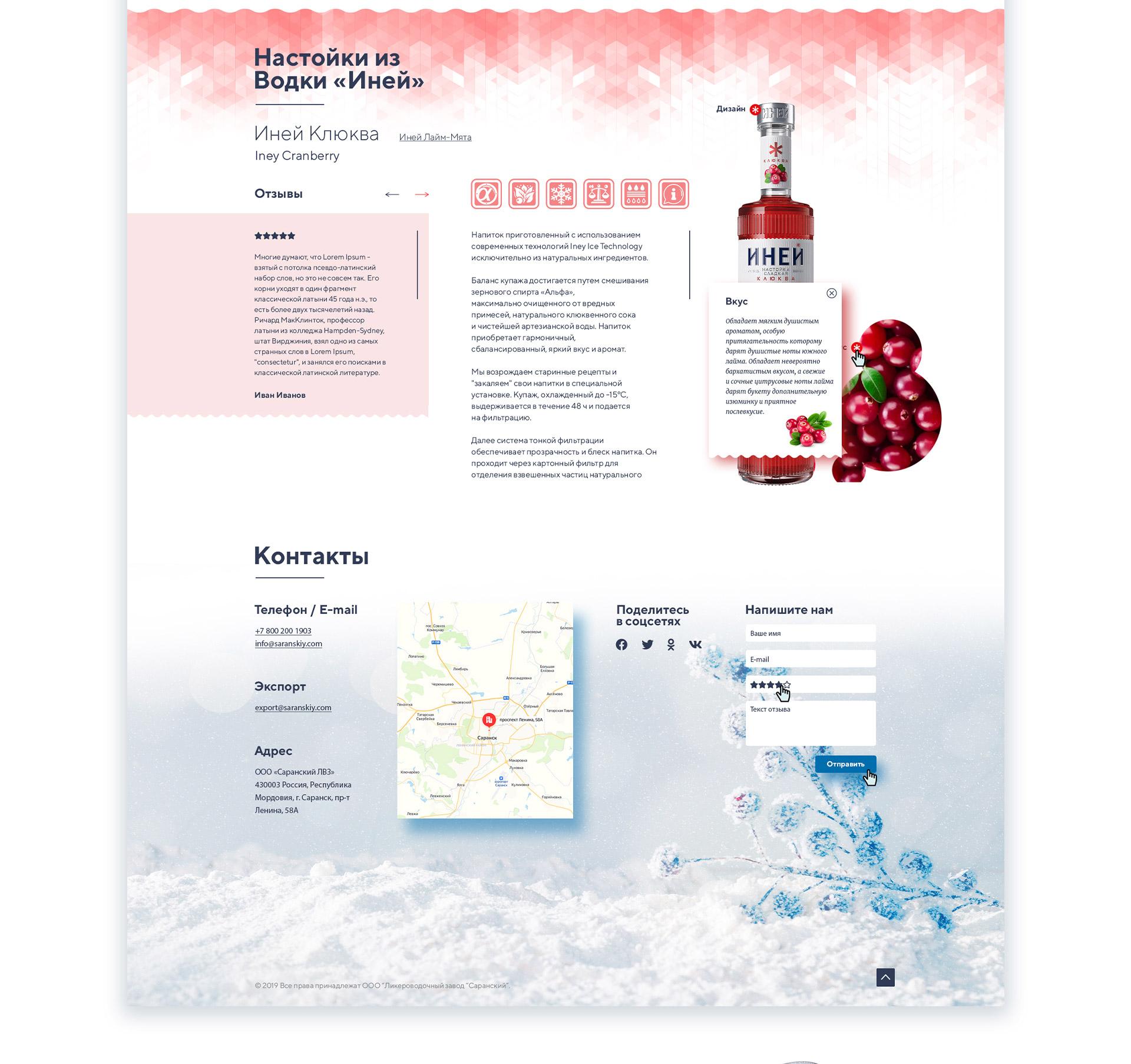 Дизайн страницы продающего лендинга для водки вкусы водки