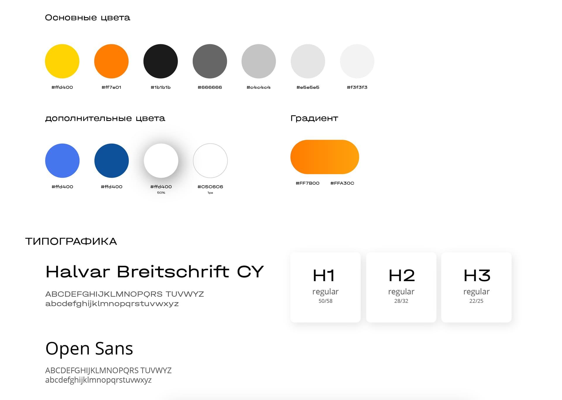 Дизайн сайта по поиску работы фирменный цвет и типографика сайта