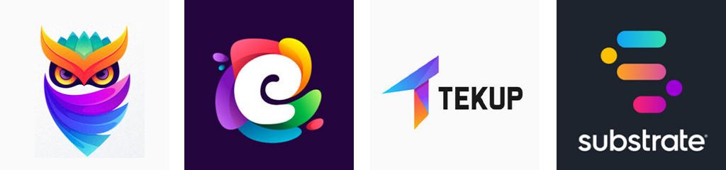 Тренды цвета дизайна логотипов 2021 яркие цвета
