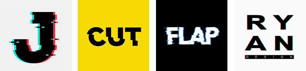 Тренды дизайна логотипов 2021 глич эффект в создании лого