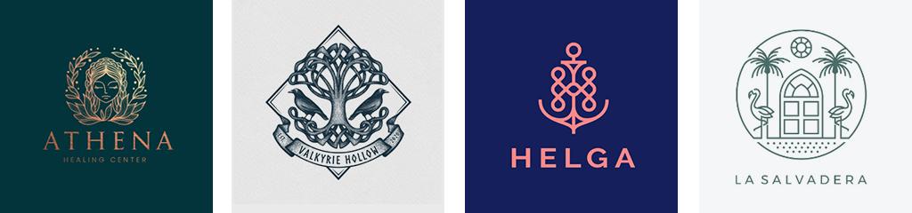 Тренды дизайна логотипов 2021 симметрия