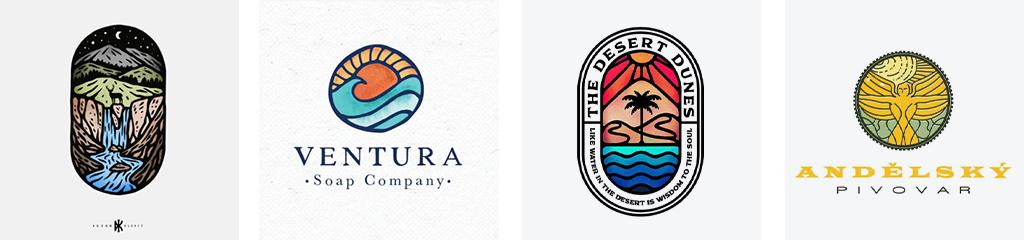 Тренды дизайна логотипов 2021 витражи