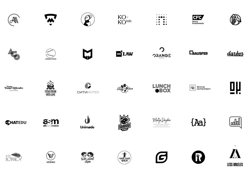 Разработка логотипов 2019-2021 портфолио логотипов агентства